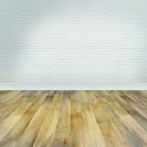 Empty Room Wood Floor Brick Wall