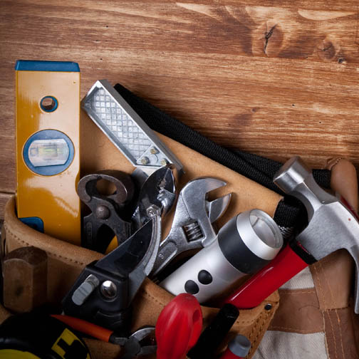 Tool belt full of tools