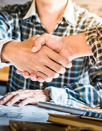 Closeup on handshake